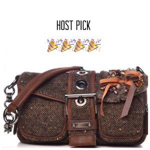 PRADA Tweed Bag W/ Jewel Bow Buckle Bag HOST PICK!